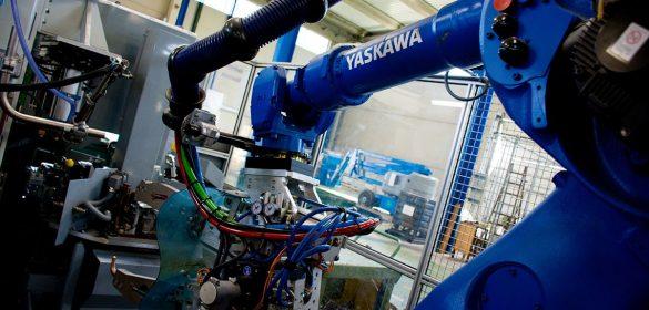 Pinza robotizada de soldadura por resistencia